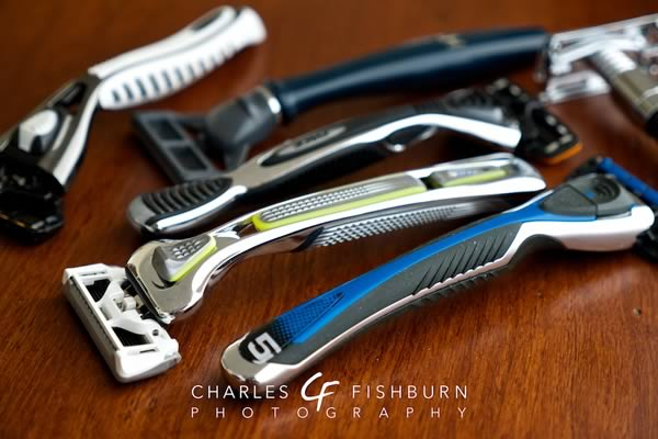 A collection of manual razors