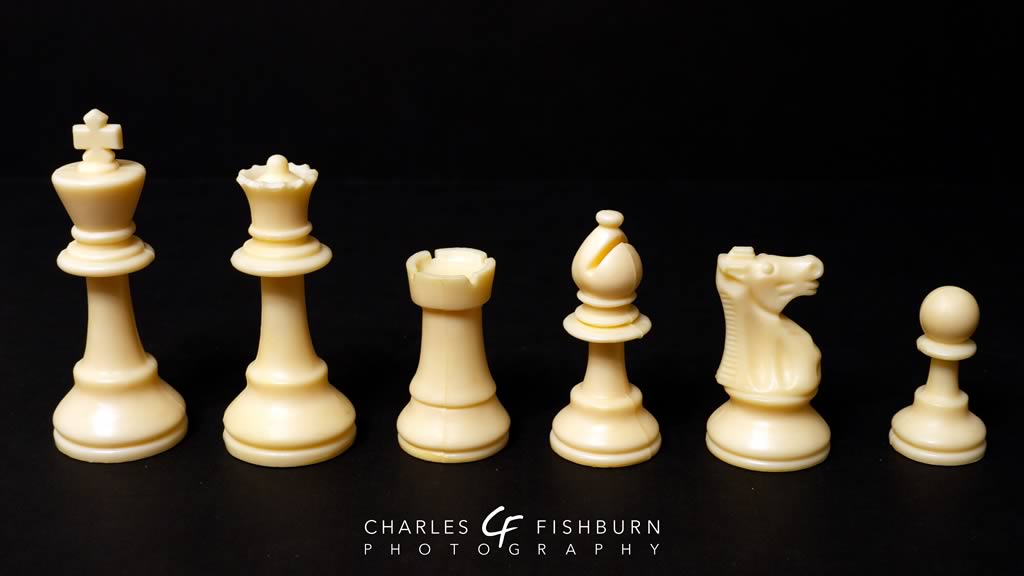 French Knight chess set, white pieces