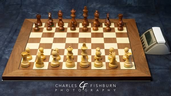 DGT electronic chess board with Timeless pieces and DGT XL chess clock