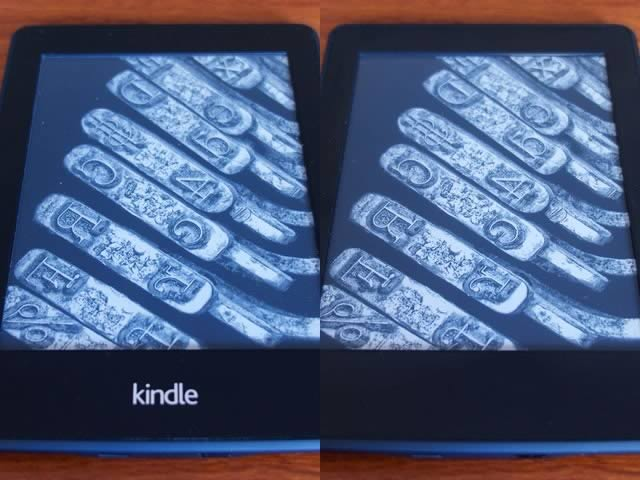Amazon Kindle Paperwhite 2nd and 3rd gen bezel comparison